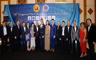 The 26th Congress of the Federation of Asian Master Tailors Urbon Tailand 22 – 27 July, 2016
